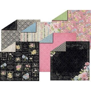 "Hot Off The Press Double-Sided Paper Pack 12""X12"" 12/Pkg-Romantique"