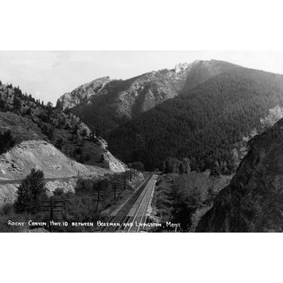 Montana - Rocky Canyon between Bozeman and Livingston - Vintage Photograph (Poker Playing Cards Deck)