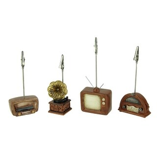 Vintage Entertainment TV and Radio Clip Card Holders Set of 4