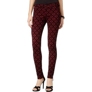 Celebrity Pink Womens Juniors Skinny Jeans Flocked Colored Wash