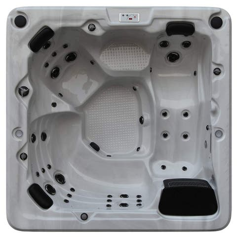 "68"" Brown and Ivory Toronto 6 Person Jet Hot Tub"
