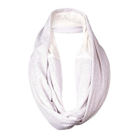 Echo Design Women's Metallic Dot Lace Inset Infinity Scarf - White - One Size Fits Most