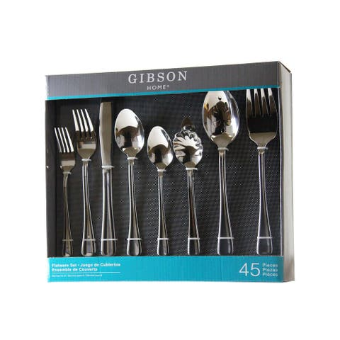 Gibson Home 45 Piece Stainless Steel Flatware Set
