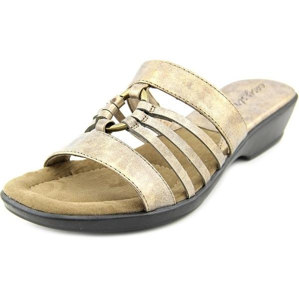 Easy Street Scorch Women WW Open Toe Synthetic Bronze Slides Sandal