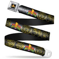 Power Rangers Logo Full Color Power Ranger Animal Logos Black Gray Gold Seatbelt Belt
