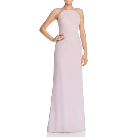 Aidan by Aidan Mattox Womens Evening Dress Ruffled Halter