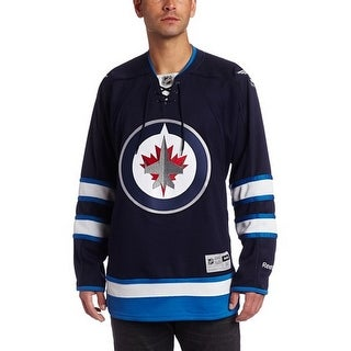 NHL Winnipeg Jets Team Premier Jersey, Medium - navy