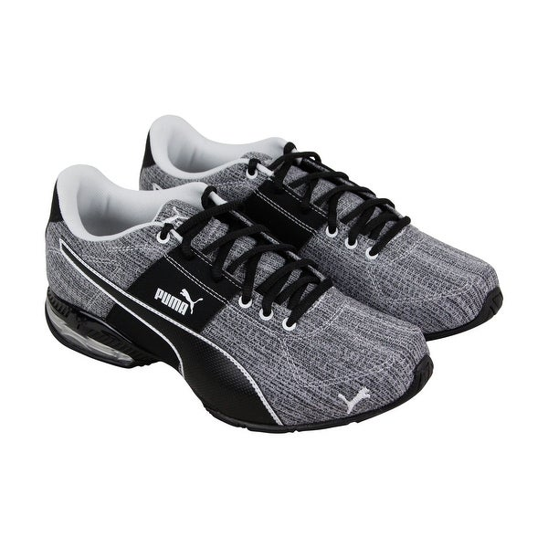 2b2dbb7528df76 Puma Cell Surin 2 Heather Mens Gray Textile Athletic Lace Up Running Shoes