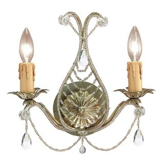 Crystorama Lighting Group 4712 Paris Market 2 Light Wall Sconce - 12 Inches Wide (2 options available)