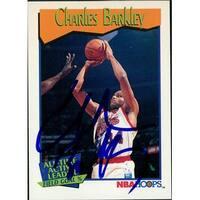 Signed Barkley Charles Philadelphia 76ers 1991 NBA Hoops Basketball Card autographed