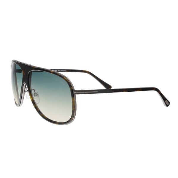 5e75acc5316 Shop Tom Ford FT0462 S 56P CHRIS Havana Square Sunglasses - 62-10 ...