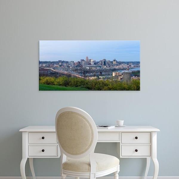 Easy Art Prints Panoramic Images's 'Skyscrapers in a city, Cincinnati, Ohio, USA' Premium Canvas Art