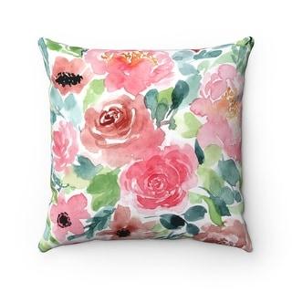 Safari Pink Parrot Throw Pillow Cover