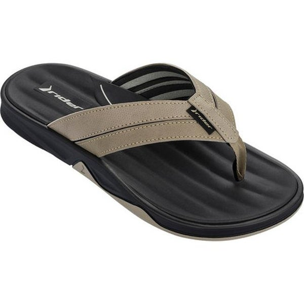 be5be88fa908 Shop Rider Men s Ventor II Thong Sandal Black   Beige - On Sale - Free  Shipping On Orders Over  45 - Overstock.com - 14667564
