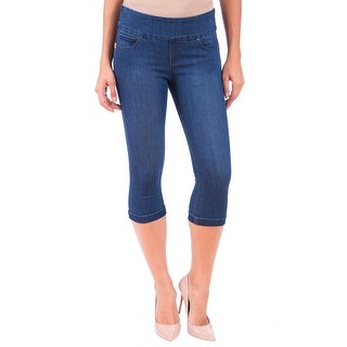 Lola Jeans Michelle-MB, Mid Rise Pull On Capri With 4-Way Stretch