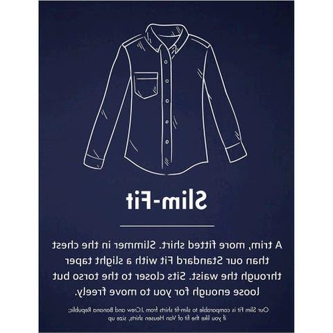 Goodthreads Men's Slim-Fit Long-Sleeve Gingham Plaid Poplin Shirt, Green/whit... - Large