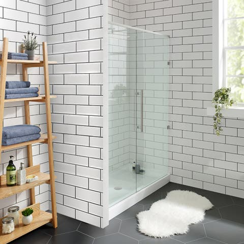 Swiss Madison Voltaire Acrylic White, Single-Threshold, Shower Base