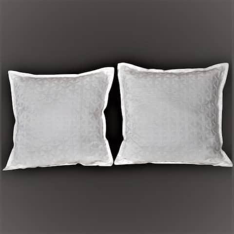 "600 TC Royal Matelasse Cotton Damask Pair of Pillow Shams 26*26"""