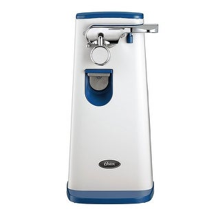 Oster FPSTCN1403 Accentuate Tall Can Opener with Built in Knife Sharpener Blue - White/Blue