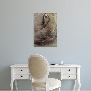 Easy Art Prints Leonardo da Vinci's 'Study of Arms and Hands' Premium Canvas Art