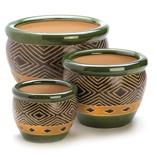 Link to Hunter Tribal Planter Trio - Multi-Color Similar Items in Planters, Hangers & Stands