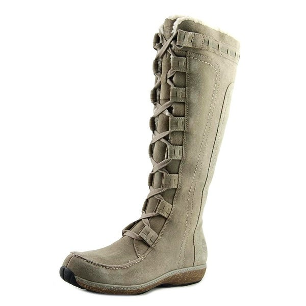Timberland Rochelle Women Round Toe Suede Tan Snow Boot