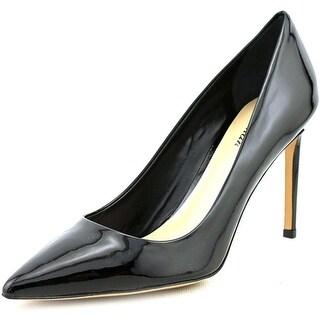 Delman Betti Women Pointed Toe Leather Heels