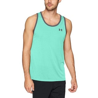 Under Armour Men's Threadborne Siro Tank, Tropical Tide/Graphite, Medium