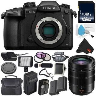 Panasonic Lumix DC-GH5 Mirrorless Micro Four Thirds Digital Camera (Body Only) + Panasonic 12-60mm f/2.8-4 Lens Bundle