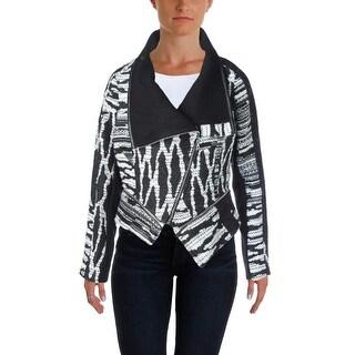 Yigal Azrouel Womens Metallic Asymmetric Jacket - 4