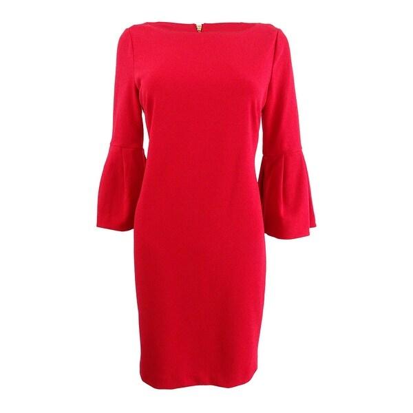 Jessica Howard Women's Petite Bell-Sleeve Sheath Dress