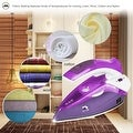 ZZ TI962-P Dual Voltage Travel Steam Iron with Stainless Steel Soleplate 1000 Watt, Purple - Thumbnail 3