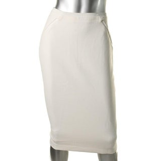 Elie Tahari Womens Knee-Length Mesh Pencil Skirt