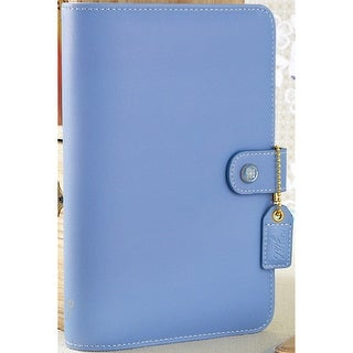 """Color Crush Faux Leather Personal Planner Binder 5.25""""X8""""-Periwinkle"""