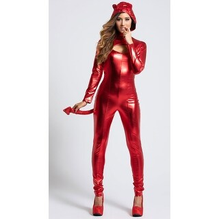 Darling Devil Costume, Devil Catsuit Costume - Red