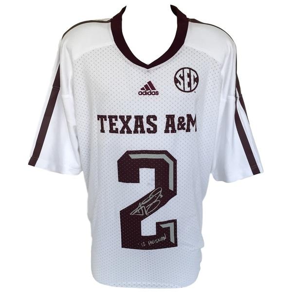 huge discount 813ee 0d18b Shop Johnny Manziel Signed Texas A&M White Adidas Jersey 2XL ...