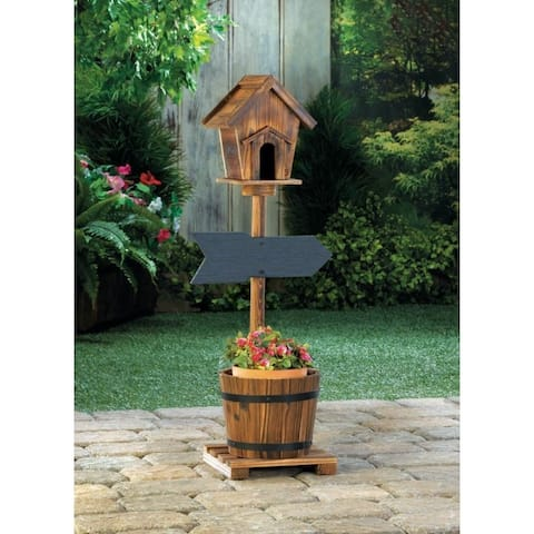 Welcome Birdhouse Rustic Planter