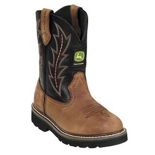 John Deere Toddler Kids Black Waterproof Western Style Boots 8.5-3