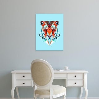 Easy Art Prints Andreas Lie's 'Geometric Tiger' Premium Canvas Art