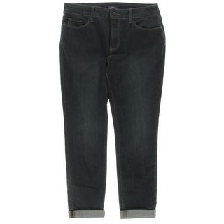 NYDJ Womens Petites Capri Jeans Lift Tuck Technology Cuffed - 10P
