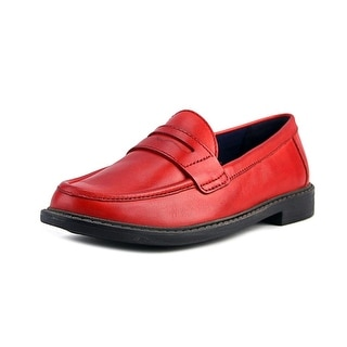 Cole Haan Pinch Campus Penny Women  Round Toe Leather Red Loafer