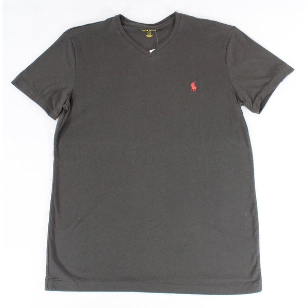 034f9c289c72 Shop Polo Ralph Lauren Black Mens Size Small S Solid Tee V-Neck T-Shirt -  Free Shipping On Orders Over $45 - Overstock - 27424715