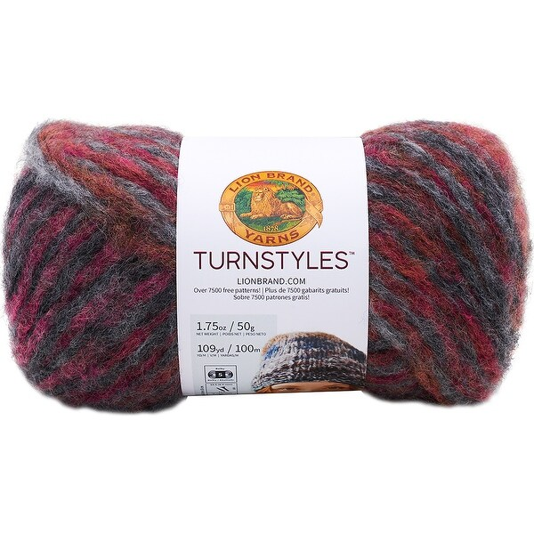 Shop Lion Brand Turnstyles Yarn-Dahlia - Free Shipping On Orders ...