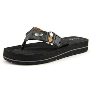 Coach Jada Open Toe Leather Flip Flop Sandal