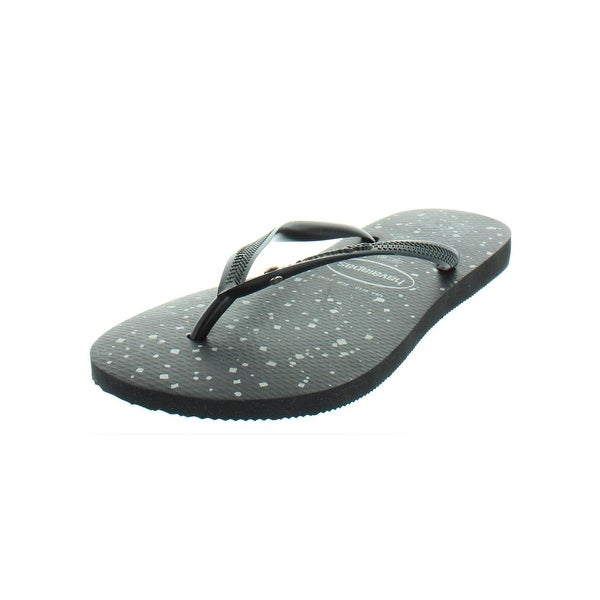 3b5a03e1282ed1 Shop Havaianas Womens Glitter Cosmic Flip-Flops Jewel Beach - On ...