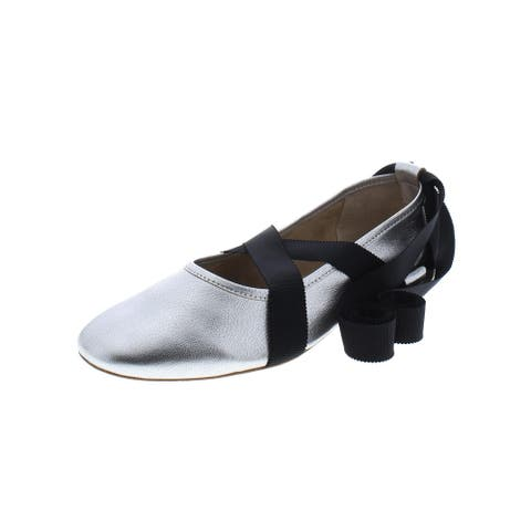 Loeffler Randall Womens Pearl Ballet Flats Leather Ankle Wrap
