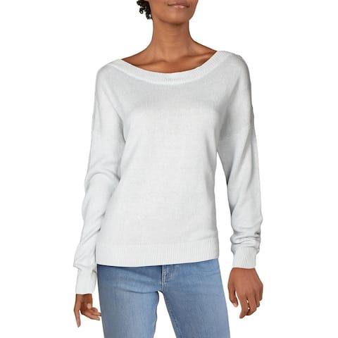 Joie Womens Gadelle Sweater Linen Blend Button Detail - Light Ash