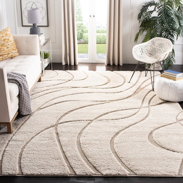 Safavieh Florida Shag Sigtraud Abstract Waves 1.2-inch Thick Rug. Opens flyout.