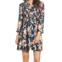 French Connection Black Women's Size 0 Floral Printed Sheath Dress