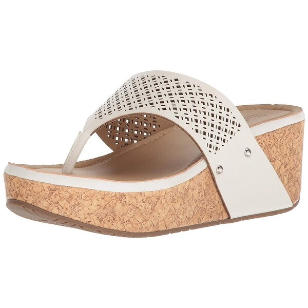 0a94bcd9ec5a ... Women s Shoes     Women s Sandals. Kenneth Cole REACTION Women  x27 s  Fan-Tastic Thong Platform Sandal Wedge